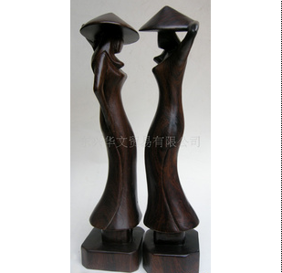 木雕工艺品/木制品/国外特色旅游品/越南人物雕件